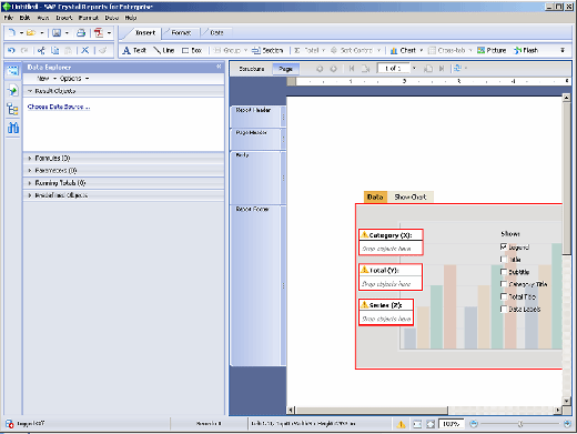 The developer controls in CRE look like SAP Webi