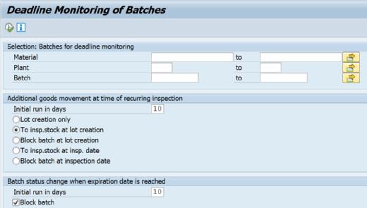 Transaction QA07 in SAP QM
