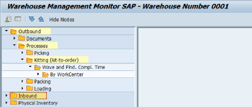 Make-to-order kitting in SAP EWM