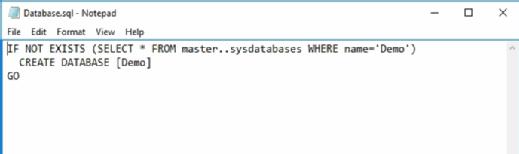 Database named Demo