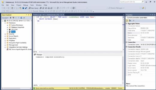 Creating Demo database