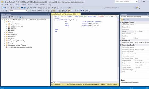 Script against Demo
