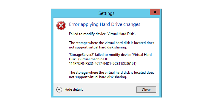Using a shared virtual hard disk in Hyper-V 2012 R2