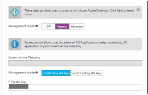 Configure apps using Azure express settings