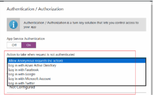 Use Azure AD authentication and authorization services