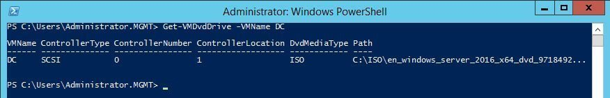 Mount an ISO file to a virtual DVD drive with PowerShell