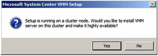 Figure 1. SCVMM setup failover cluster