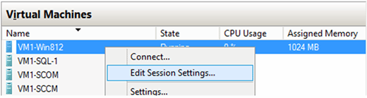 Edit Session Settings