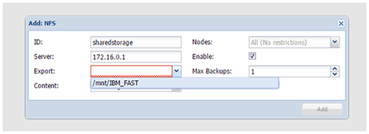 Creating a cluster with shared storage in Proxmox