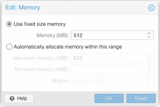 Configuring memory settings.
