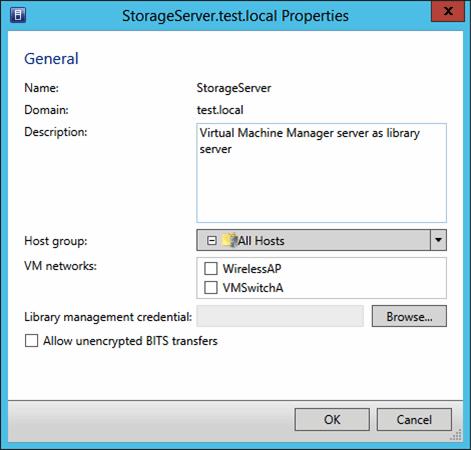 Library server properties