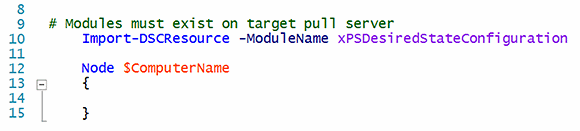 DSC modules must exist on the target pull server