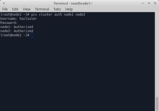 Authorizing cluster nodes.