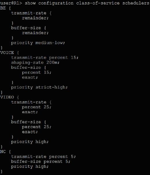 Aktualisierte QoS-Konfiguration.