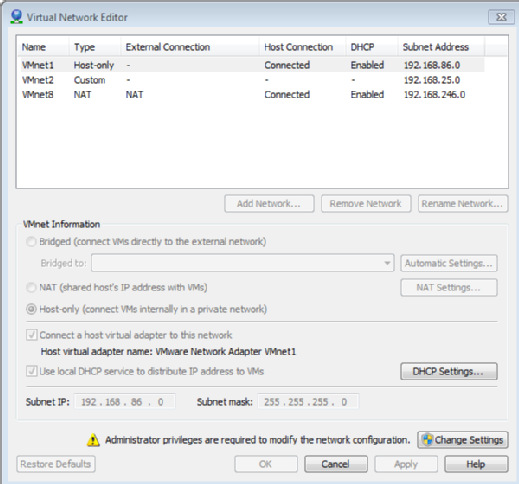 How to simulate a multisite network with VMware Workstation