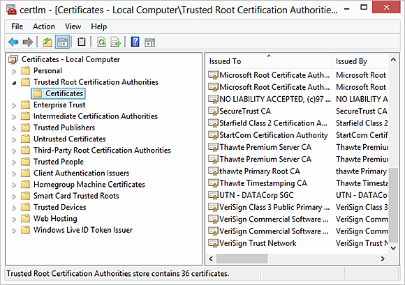 Adding certificate authorities