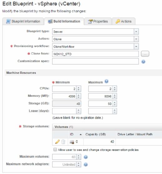 Build Information tab