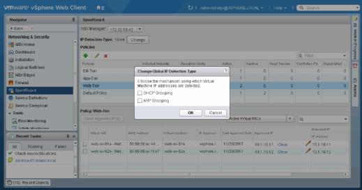 Enable DHCP snooping or ARP snooping.