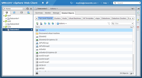 Access multiple vCenter servers with SSO
