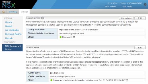 Configure NSX Lookup Service