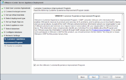 VMware CEIP agreement