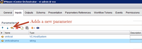 Add input parameters