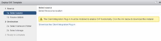 OVF template deployment