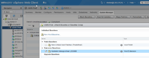 Patch components with VUM