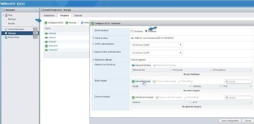 Single host management in vSphere Host Client.