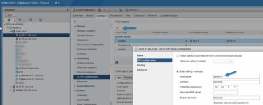 vSphere Web Client.