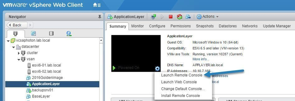What is VMware Remote Console and how do you run it?