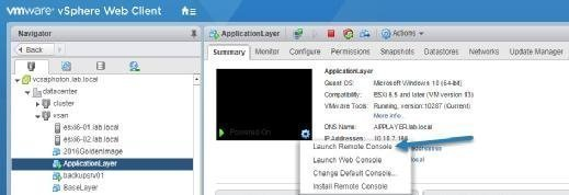 Launch VMware Remote Console