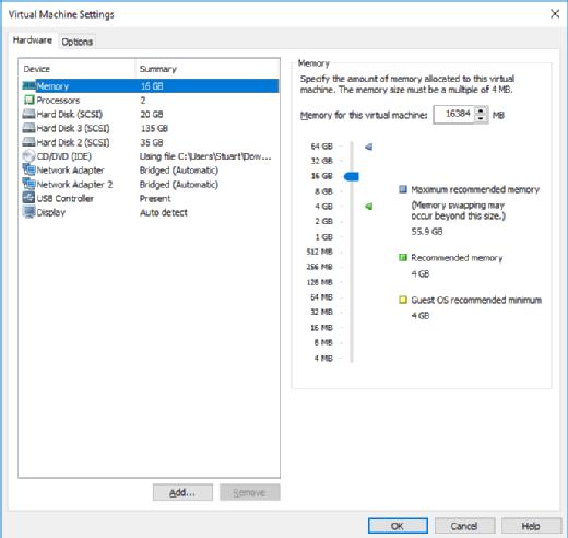 Virtual ESXi host configuration