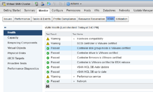 VSAN cluster health after sync