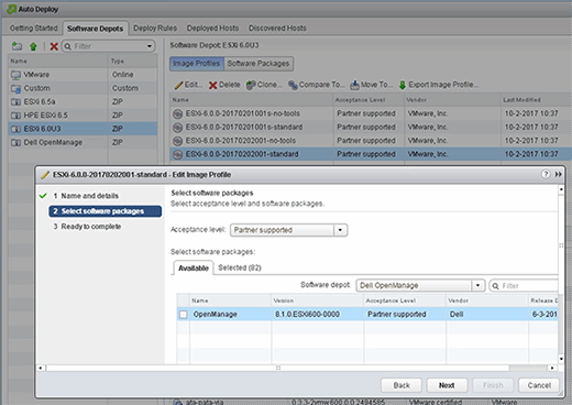 OpenManage software package.