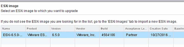 ESXi 6.5 install image