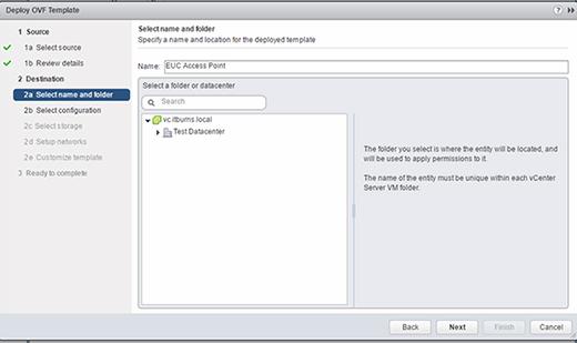 VMware Access Point server location
