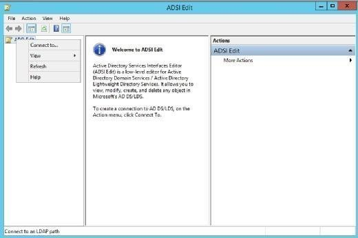 Connect to Active Directory then use ADSI Edit.