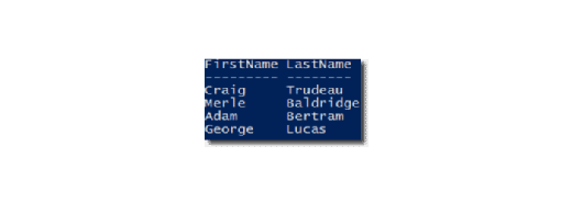 template output