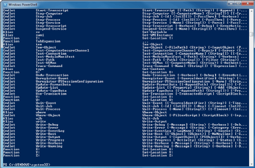 PowerShell command line