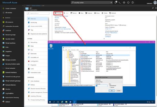 Managing Windows Server VM in Azure.