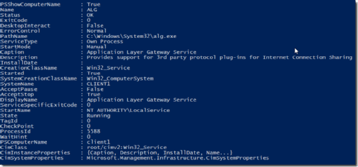 Property parameter in Win32_Service class