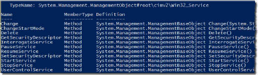 WMI service instance objects