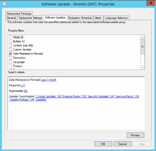 System Center Configuration Manager tool regulates server