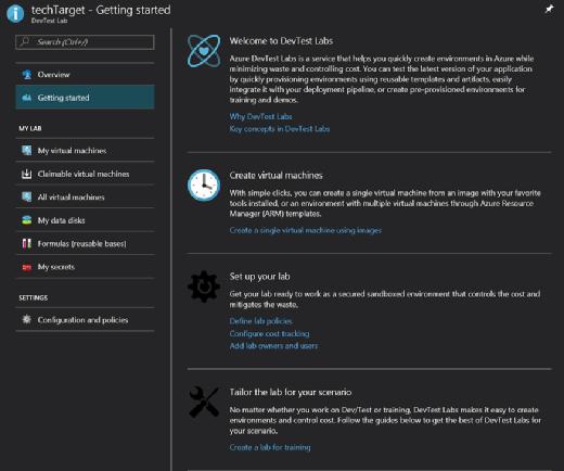 Azure DevTest Labs environment