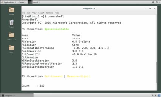 CentOS server with PowerShell