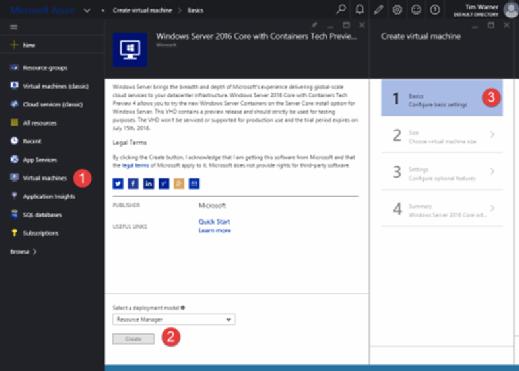 Microsoft Azure container