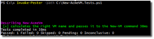 PowerShell Pester test.