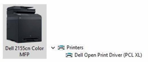 A print driver for a Dell printer.