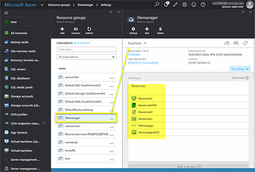 Azure Resource Manager resource groups